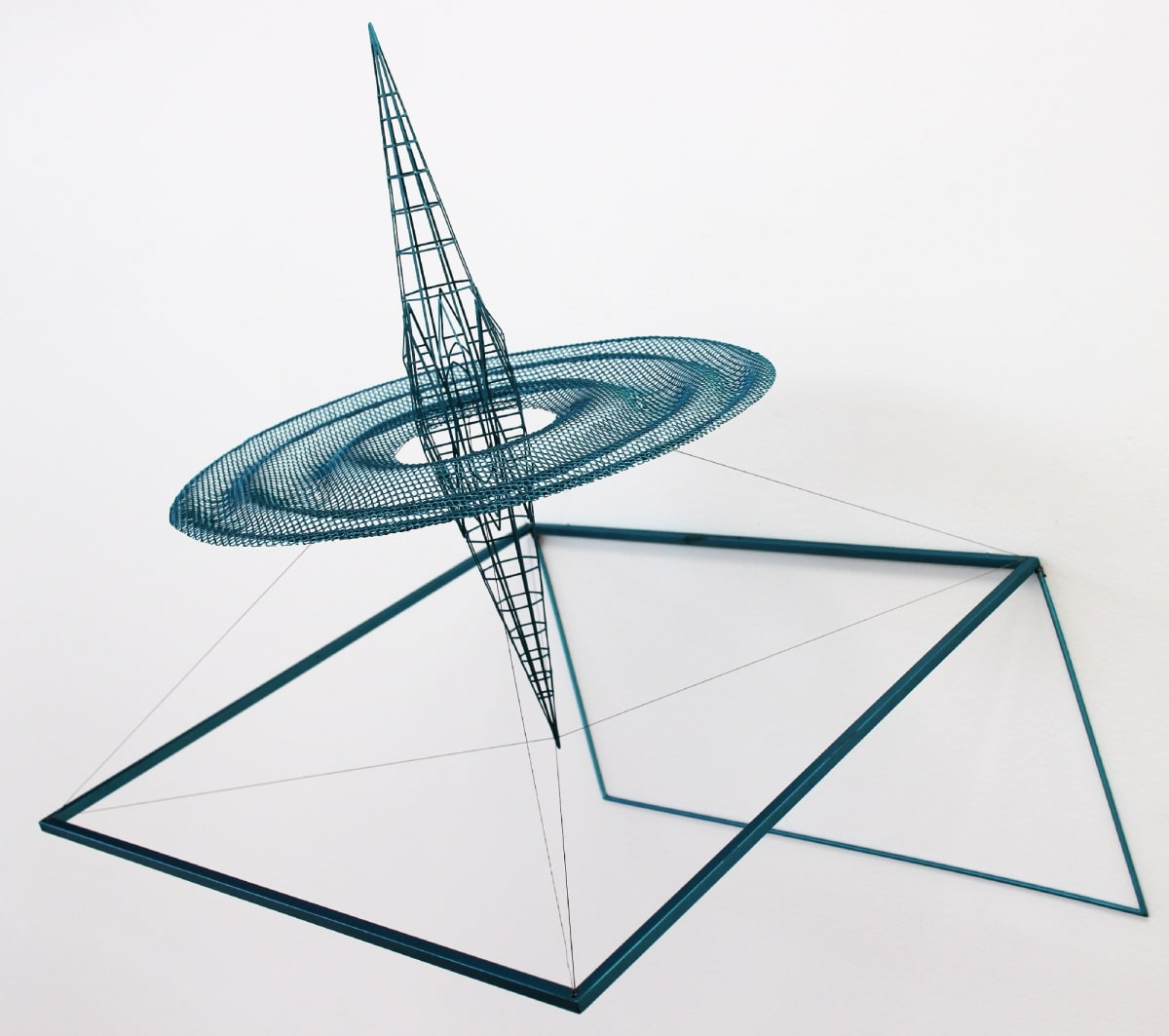 Neil Dawson Inspiration 10, 2013 Painted steel and stainless steel wire 18.5 x 18.9 x 15 in 47 x 48 x 38 cm