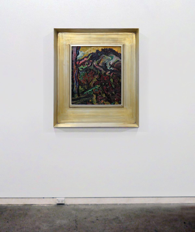 Philip Trusttum Port Hills, Christchurch, 1973 Oil on board 20.9 x 17.7 in 53 x 45 cm