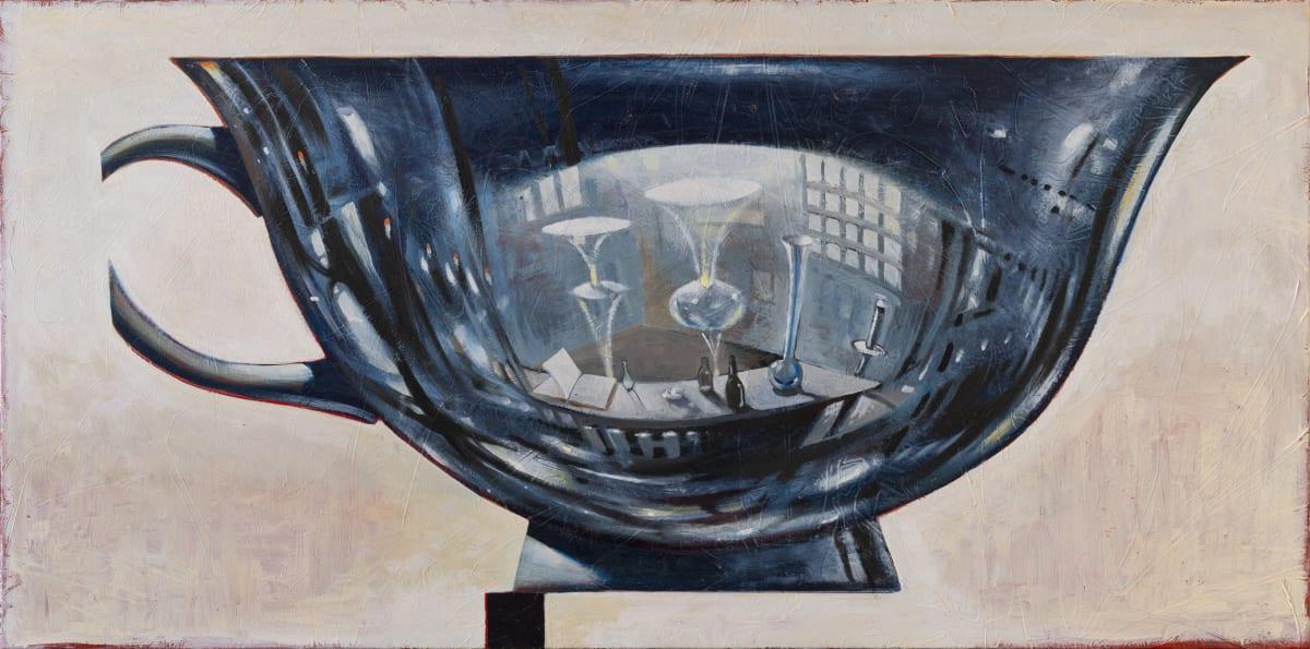 Derek Cowie Broken Cup, 2018-19 Oil on canvas 755mm x 1520mm