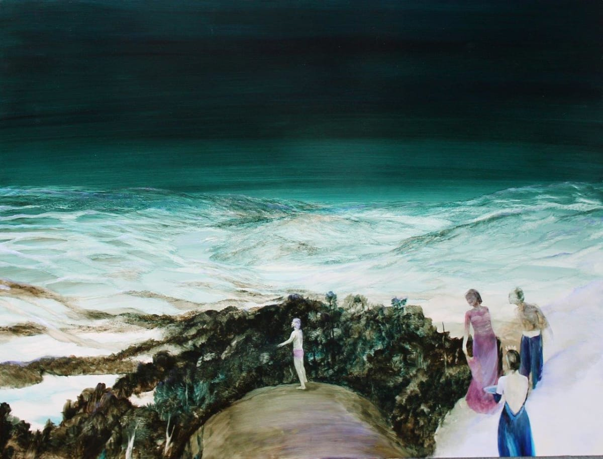 John WALSH Hine Entertains While Tane Rearranges The Universe, 2013 Oil on board 35.4 x 47.2 in 90 x 120 cm