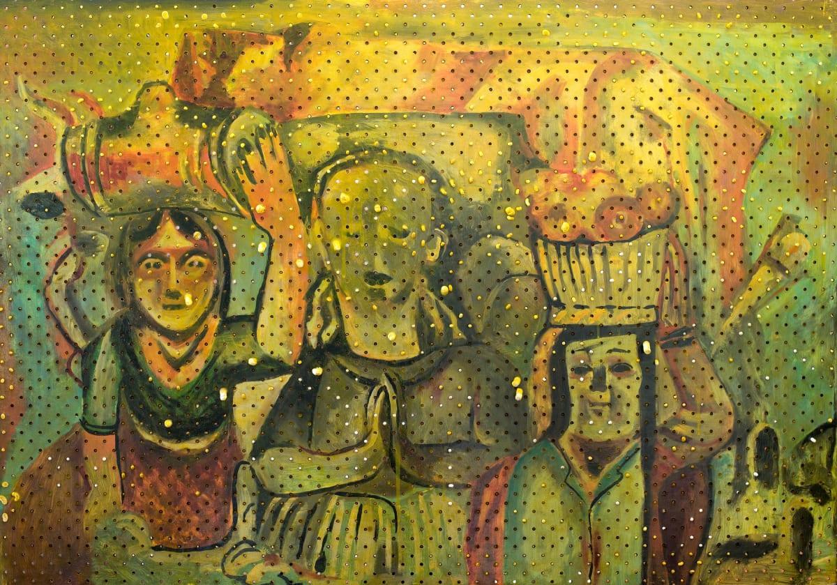 Derek Cowie Hodgkins on Cadmium White (Spanish Shrine, 1933-35), 2017 Oil on peg board 31.5 x 45.7 in 80 x 116 cm