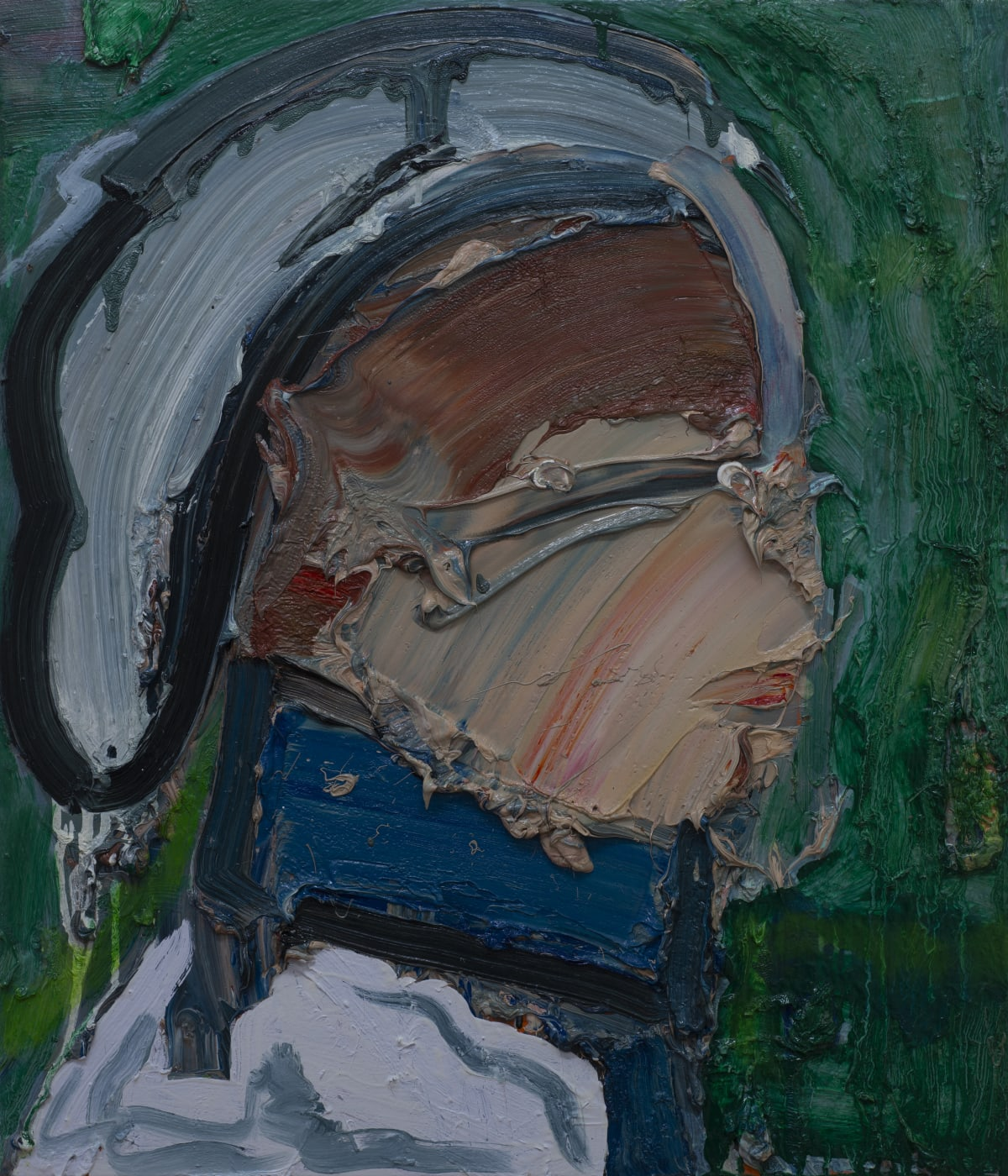 Toby Raine Chris MacNeil Secretly Listening to Priest's Confessions (Ellen Burstyn - 'The Exorcist'), 2019 Oil on canvas 700 x 600mm