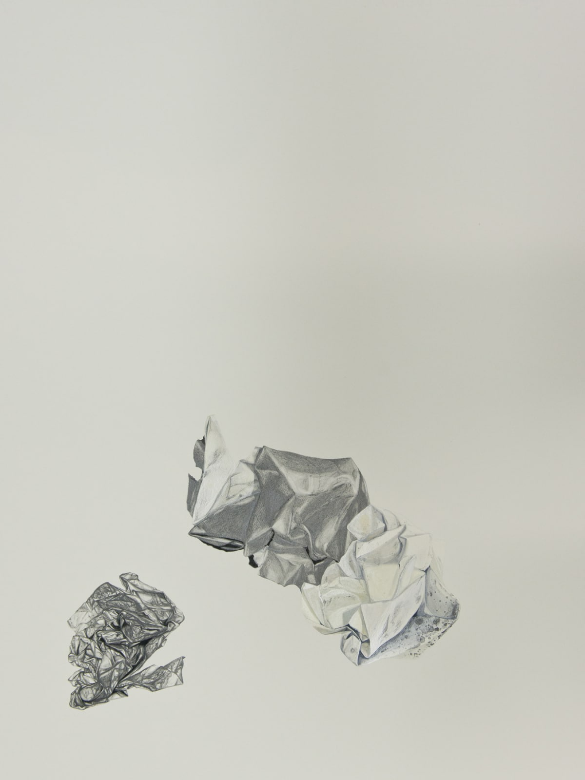 Marita Hewitt Waste Paper Series; Trials With Powdered Graphite, 2015 Watercolour and graphite on paper 34.3 x 26 in 87 x 66 cm