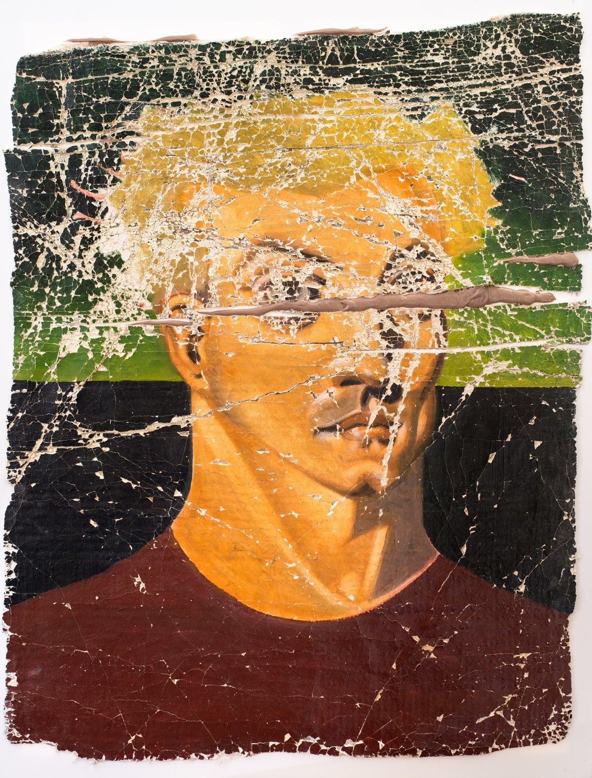Derek Cowie Bensemann on Cadmium White, 2017 Oil on prepared plaster 39.8 x 29.9 in 101 x 76 cm