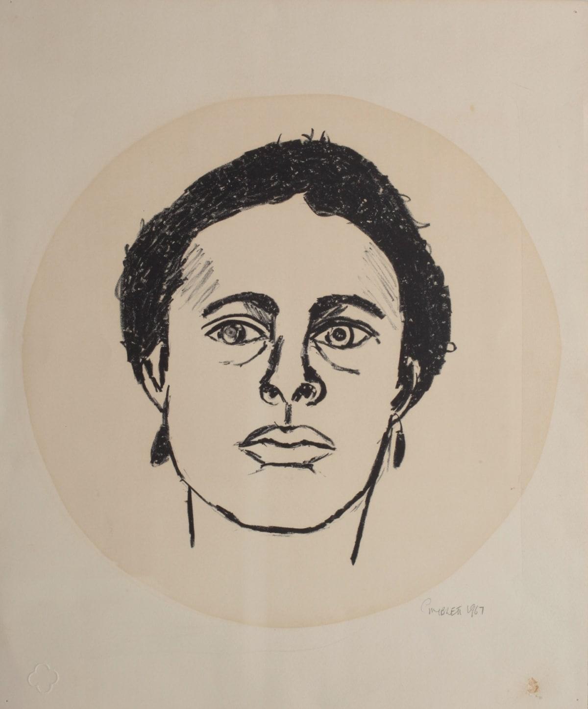 Max GIMBLETT My Barbara, 1967 Mixed media on paper 16 x 13.3 in 40.6 x 33.7 cm
