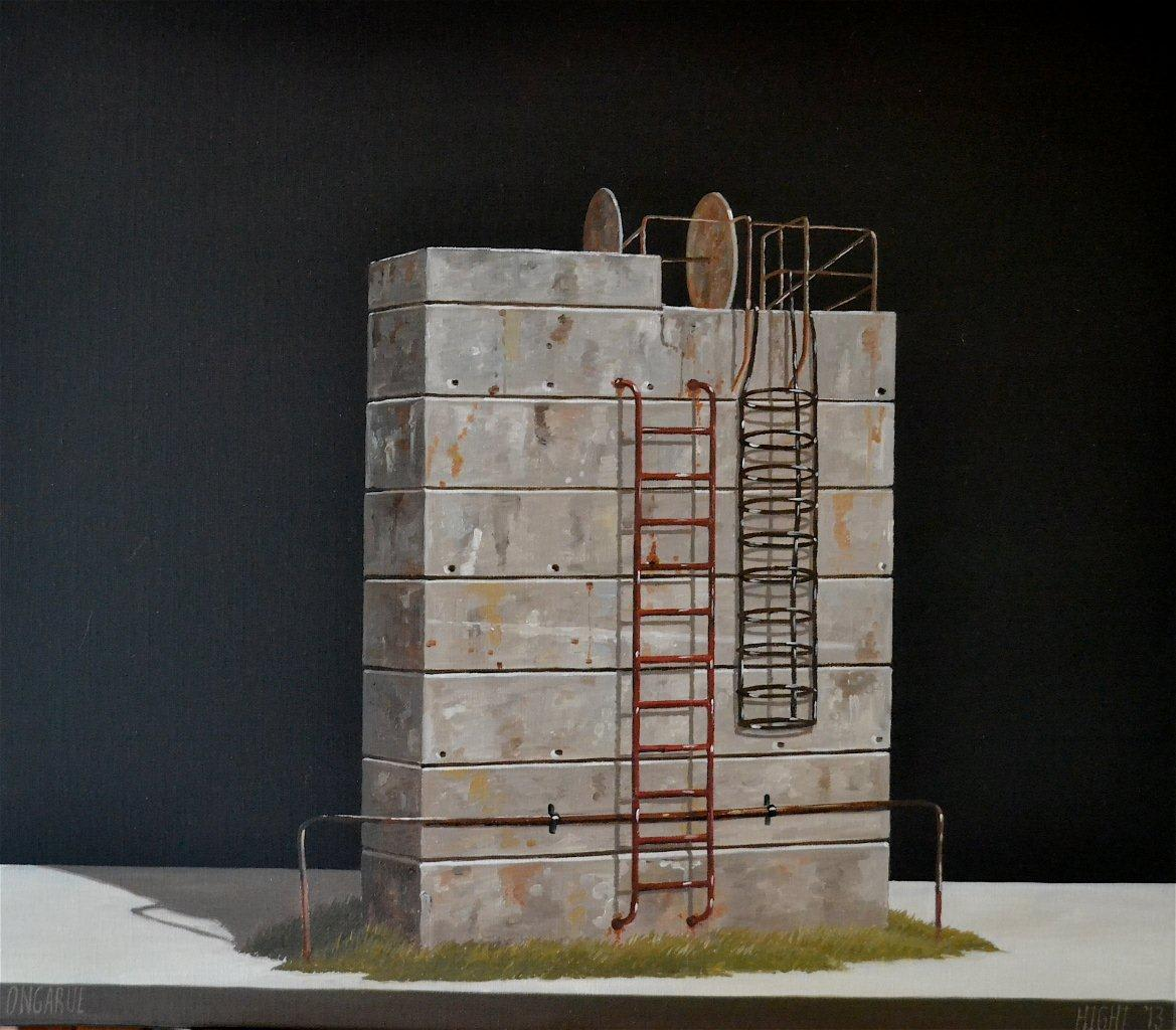 Michael Hight  Ongarue, 2013  Oil on linen  14 x 16.1 in 35.5 x 41 cm
