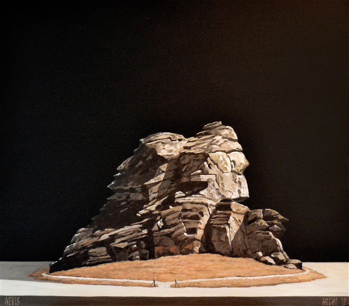 Michael Hight  Nevis, 2012  Oil on linen  14 x 16.1 in 35.5 x 41 cm