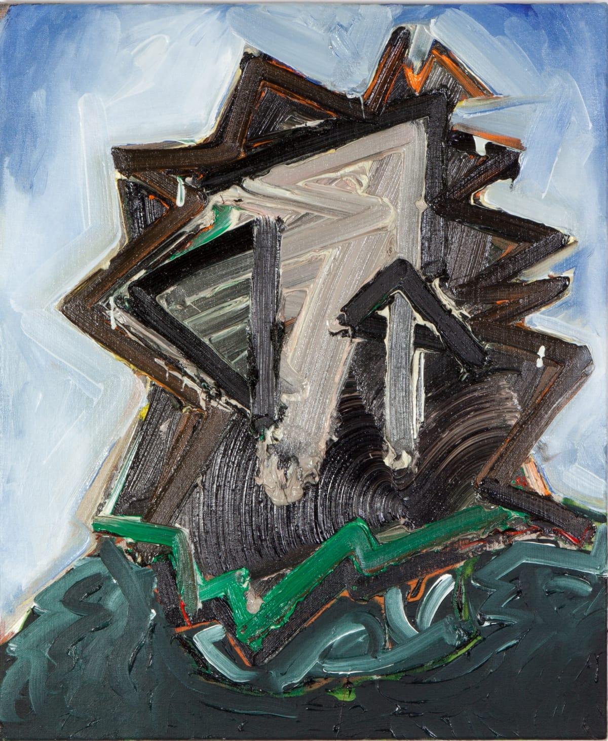 Toby Raine Judas - Harvey Keitel with Beard (Last Temptation of Christ), 2015 Oil on linen 23.8 x 19.9 in 60.5 x 50.5 cm