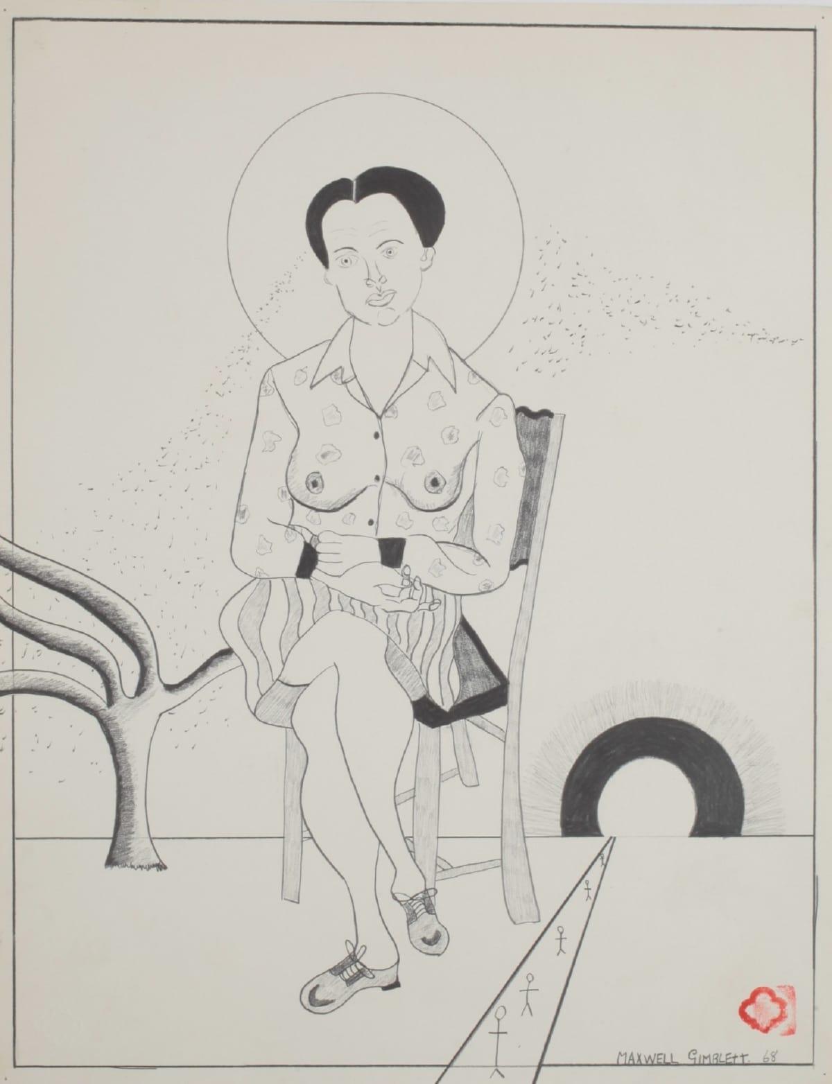 Max GIMBLETT Slouching Towards Bethlehem, 1968 Pencil on paper 18 x 14 in 45.7 x 35.6 cm