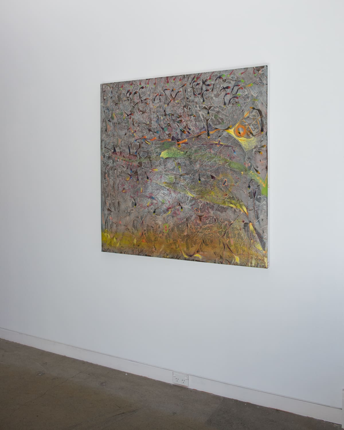 Derek Cowie Further Reading; Riparian Planting, 2018 Oil on canvas 122 x 122 cm 48 1/8 x 48 1/8 in
