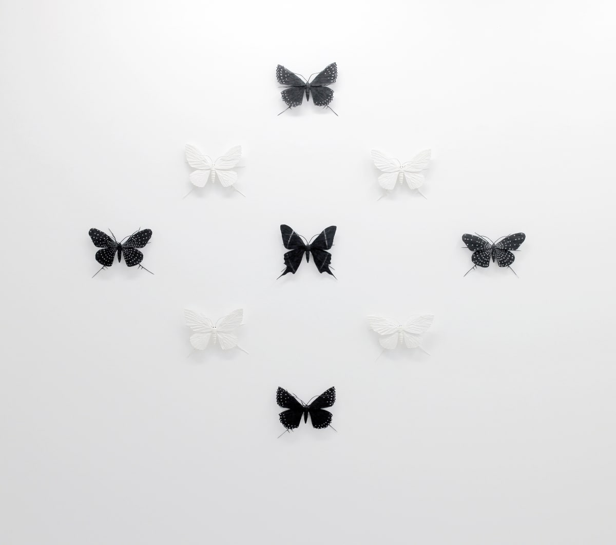 Elizabeth THOMSON The Black-and-Whites (I), 2017 Mixed media 47.2 x 53.5 in 120 x 136 cm