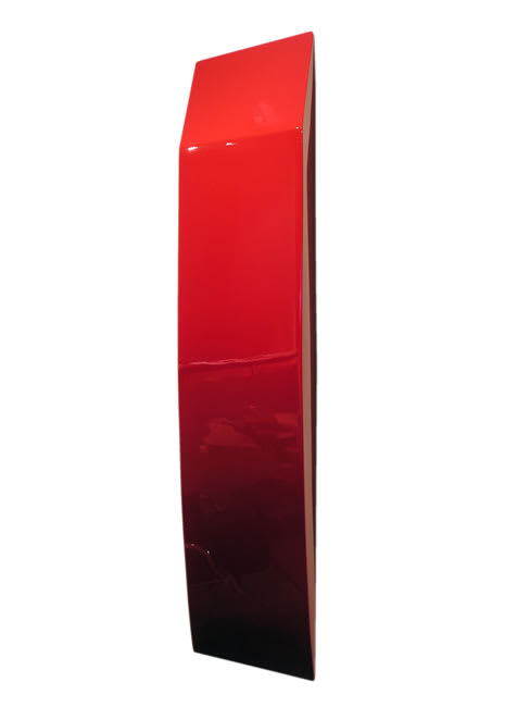Sarah Munro Blood Red Object with Undercut, 2008 Automotive paint on fibreglass support 41.3 x 11.8 x 4.7 in 105 x 30 x 12 cm