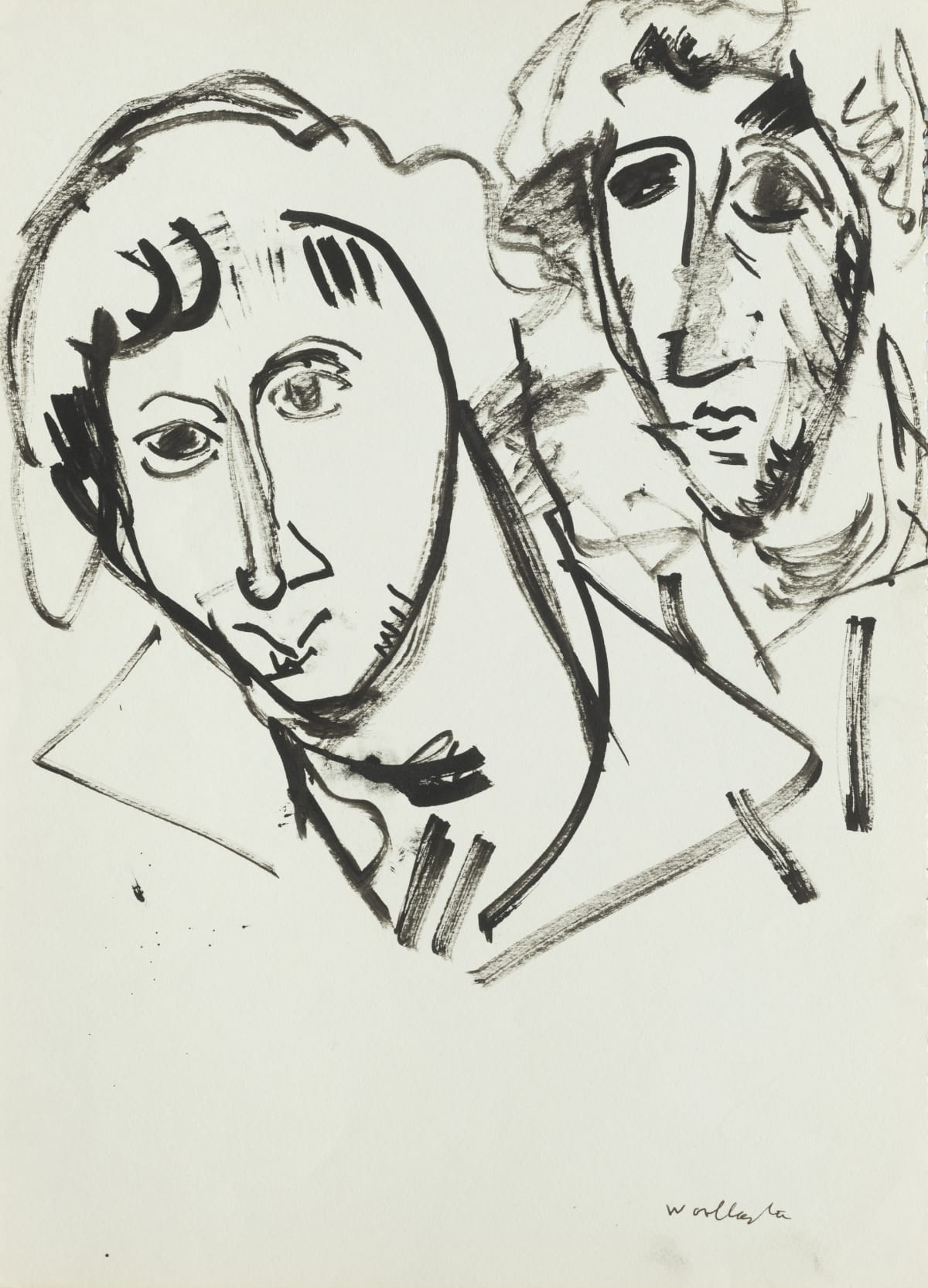 Mountford Tosswill Woollaston Sue Du Fresne, 1960 ink on paper 375mm x 275mm
