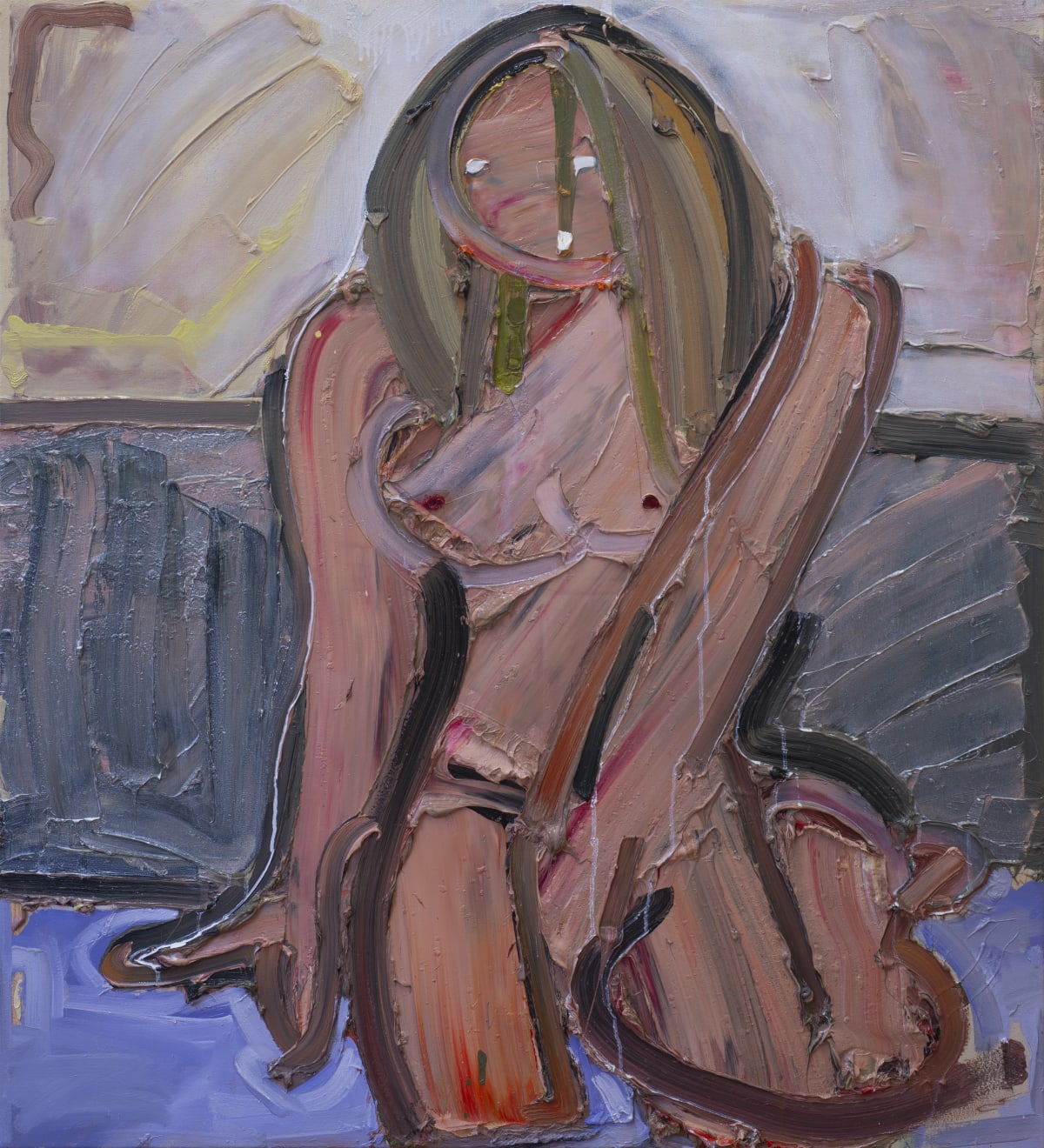 Toby Raine On the Floor II, 2019 Oil on canvas 1100 x 1000mm
