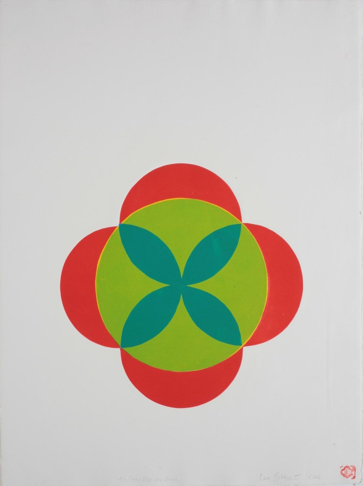 Max GIMBLETT The Green Fuse that Drives, 2006 Monoprint 762 x 559 mm