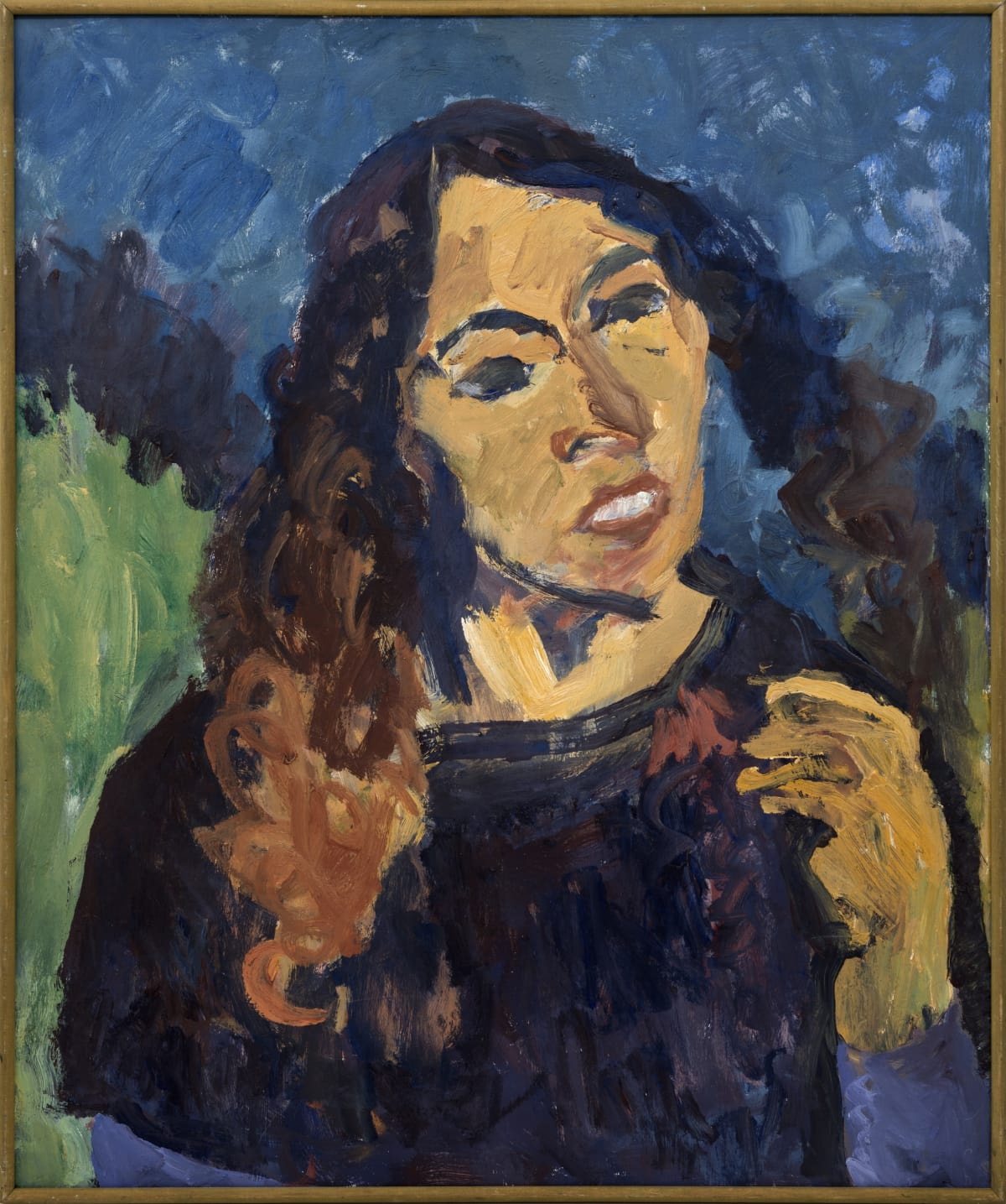 Mountford Tosswill Woollaston Untitled (Portrait of Maggie Clark), n.d. Oil on board 75.2 x 62.5 cm 29 5/8 x 24 5/8 in