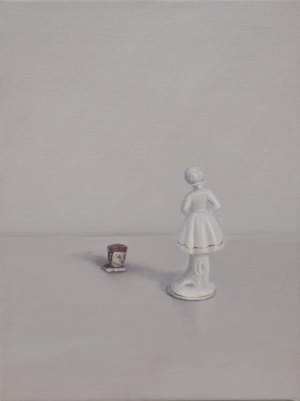 Emily Wolfe  Disembodied, 2018  Oil on linen  40 x 30 cm