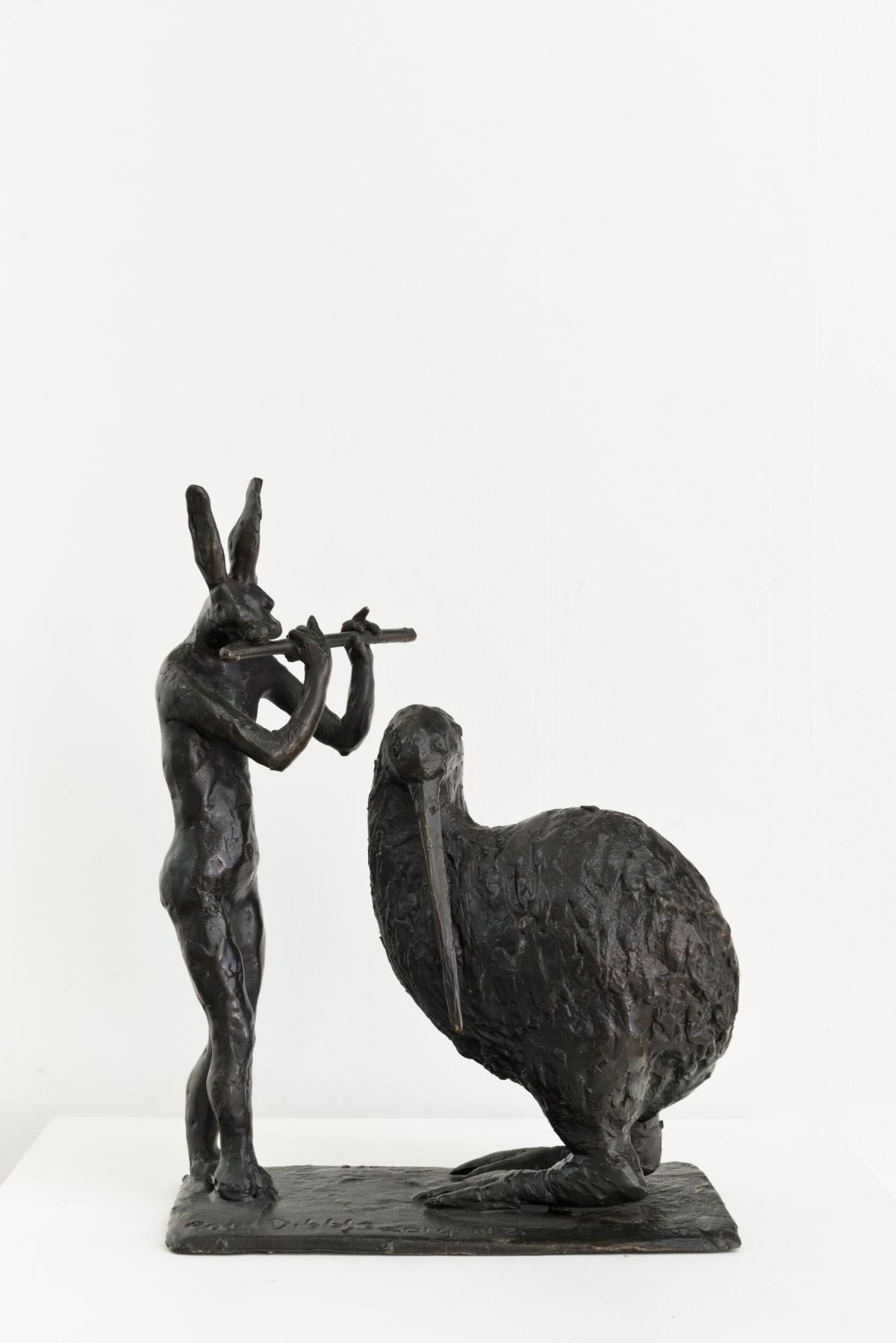 Paul DIBBLE Good Night Kiwi, 2014 Cast Patinated Bronze 14.6 x 10.4 x 5.1 in 37 x 26.5 x 13 cm #1/2