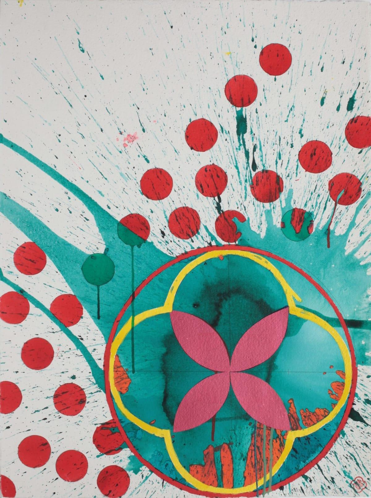 Max GIMBLETT Full Fathom Five, 2010 Mixed media on paper 30 x 23 in 76.2 x 58.4 cm