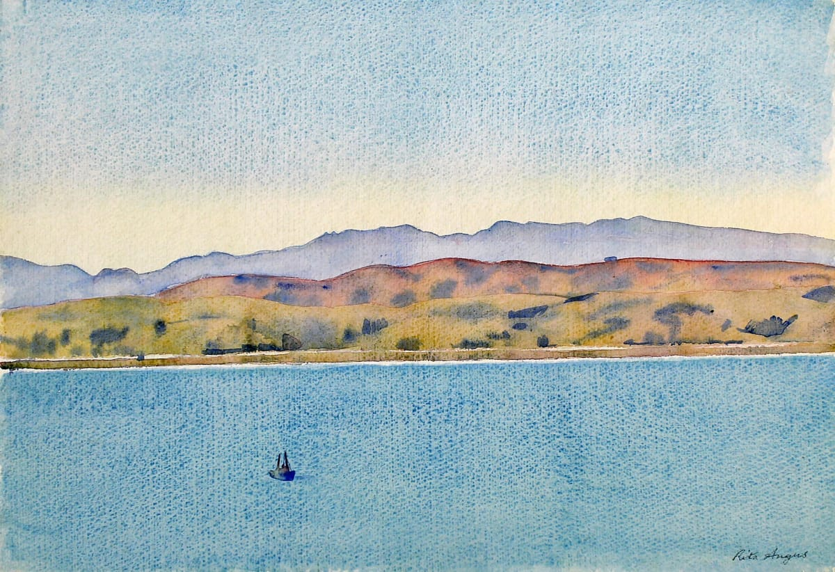 Rita Angus Seascape and Landscape, n.d. Watercolour on paper 10.9 x 14.9 in 27.7 x 37.9 cm