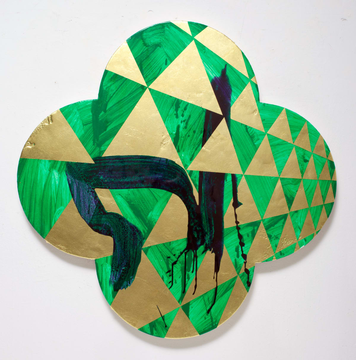 Max GIMBLETT Four White Leopards, 2011 Mixed media 40 x 40 in 101.6 x 101.6 cm