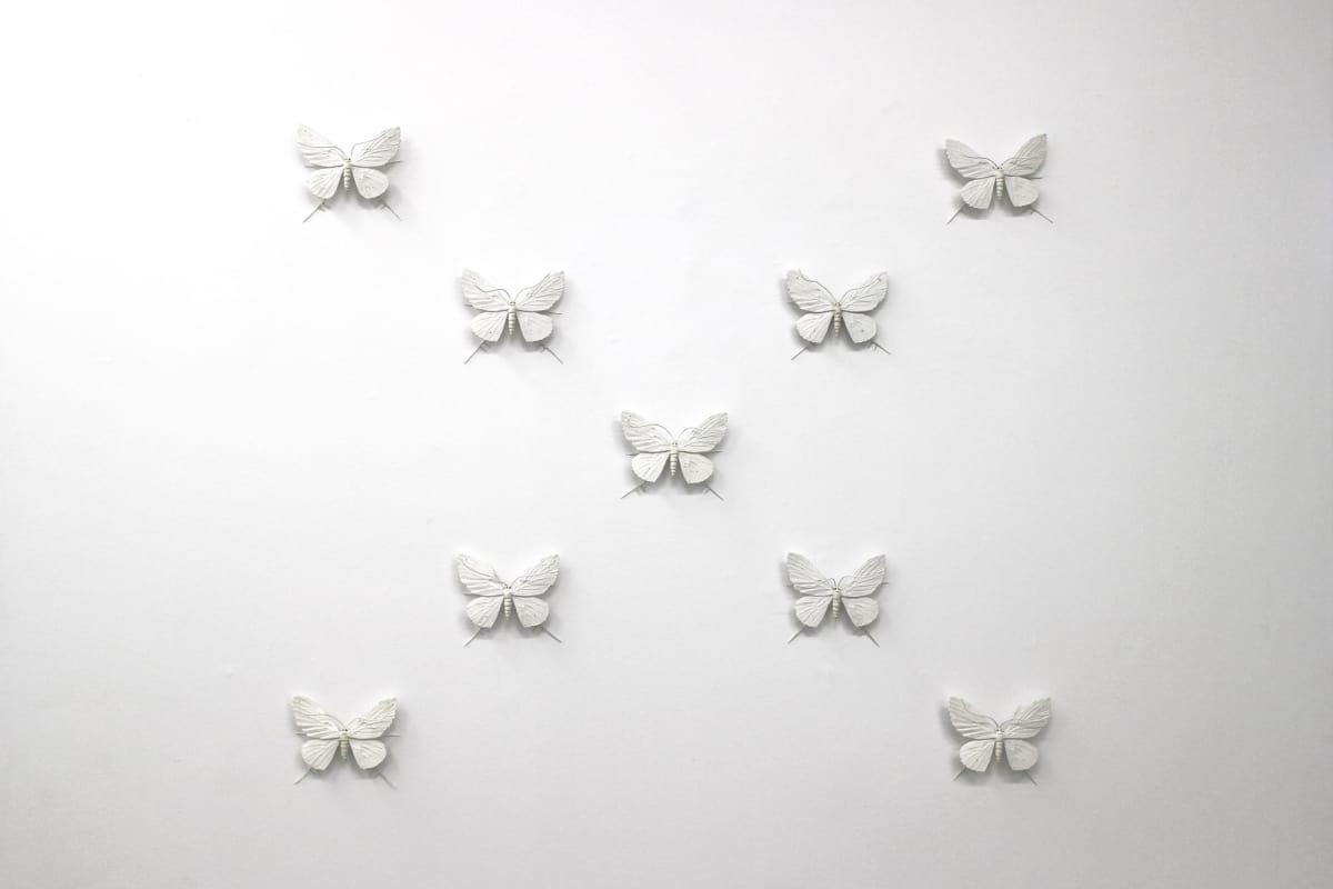 Elizabeth THOMSON The Black-and-Whites (V), 2017 Mixed media 46.5 x 53.1 in 118 x 135 cm