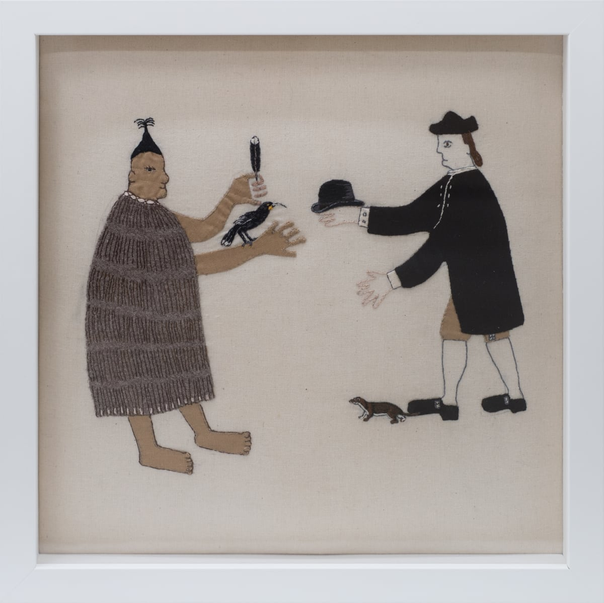 Sarah Munro, Trade Items: Bowler Hat, Stoat, Huia, 2018