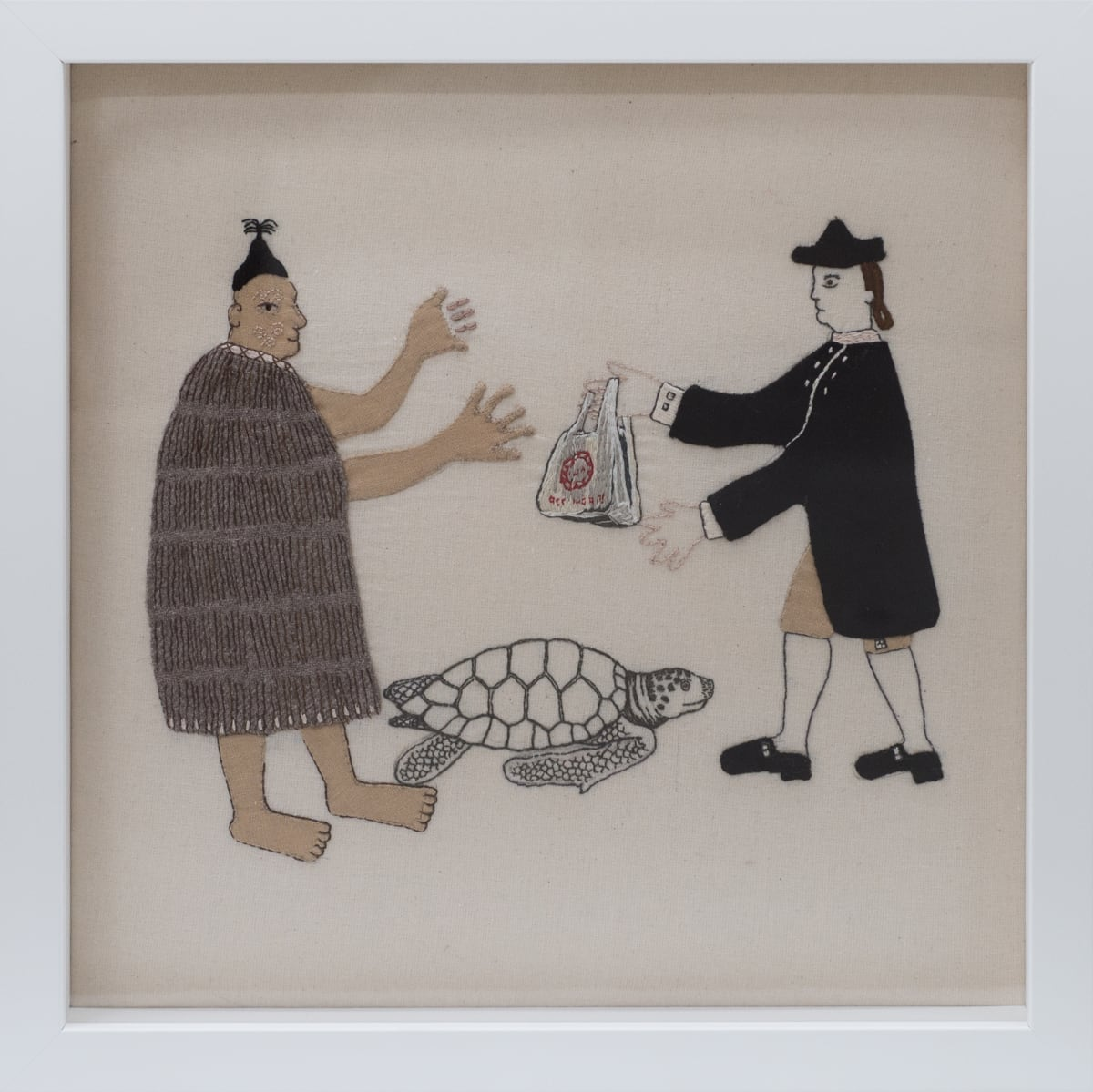 Sarah Munro, Trade Items: One-use plastic bag, Sea Turtle, 2018
