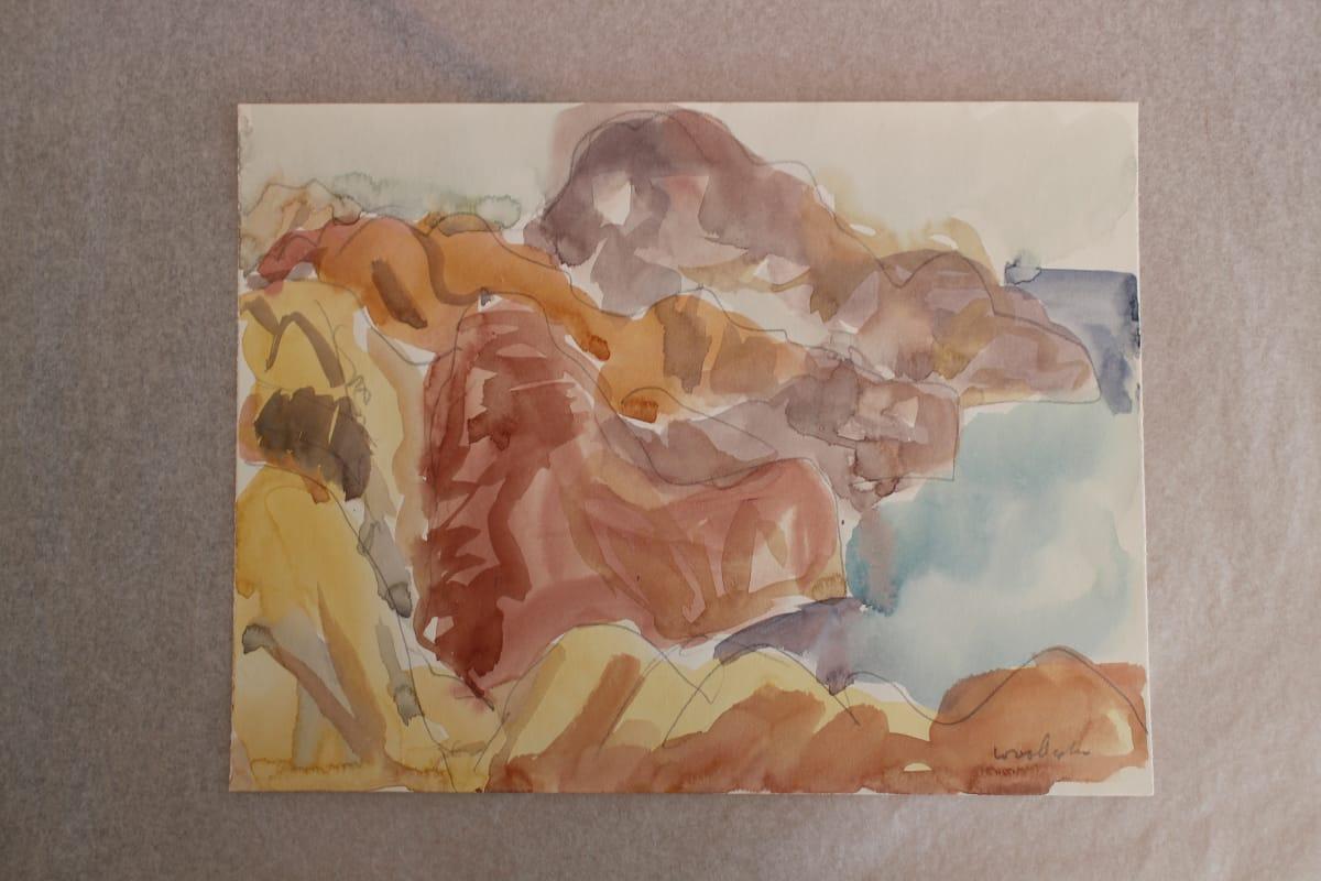 Mountford Tosswill Woollaston  Makara Coast 2, n.d.  Watercolour on paper  7.9 x 10.4 in 20 x 26.5 cm