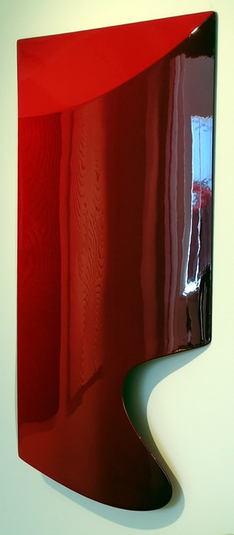Sarah Munro Blood Red Solvent Pop, 2008 Automotive paint on fibreglass support 35 x 22.8 x 3.9 in 89 x 58 x 10 cm