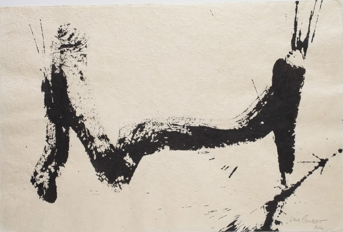 Max GIMBLETT Bridge, 2014 Sumi ink on hand made paper 20 x 30 in 50.8 x 76.2 cm