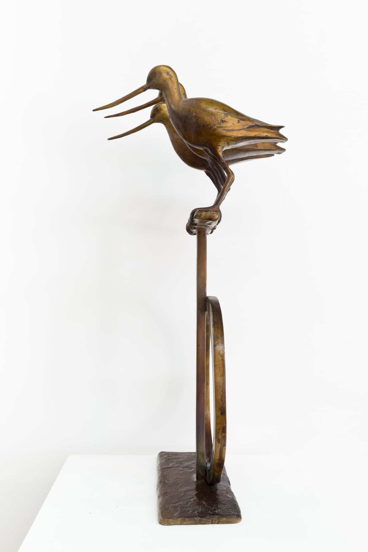 Paul DIBBLE The Godwits Arrive, 2014 Cast Patinated Bronze 25.2 x 13 x 9.8 in 64 x 33 x 25 cm #1/2