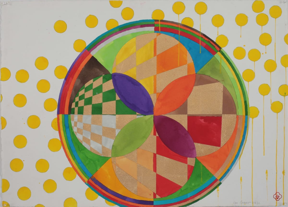 Max GIMBLETT Sacred Pilgrimage to Egypt, 2011/12 Mixed media on paper 30 x 41 in 76.2 x 104.1 cm