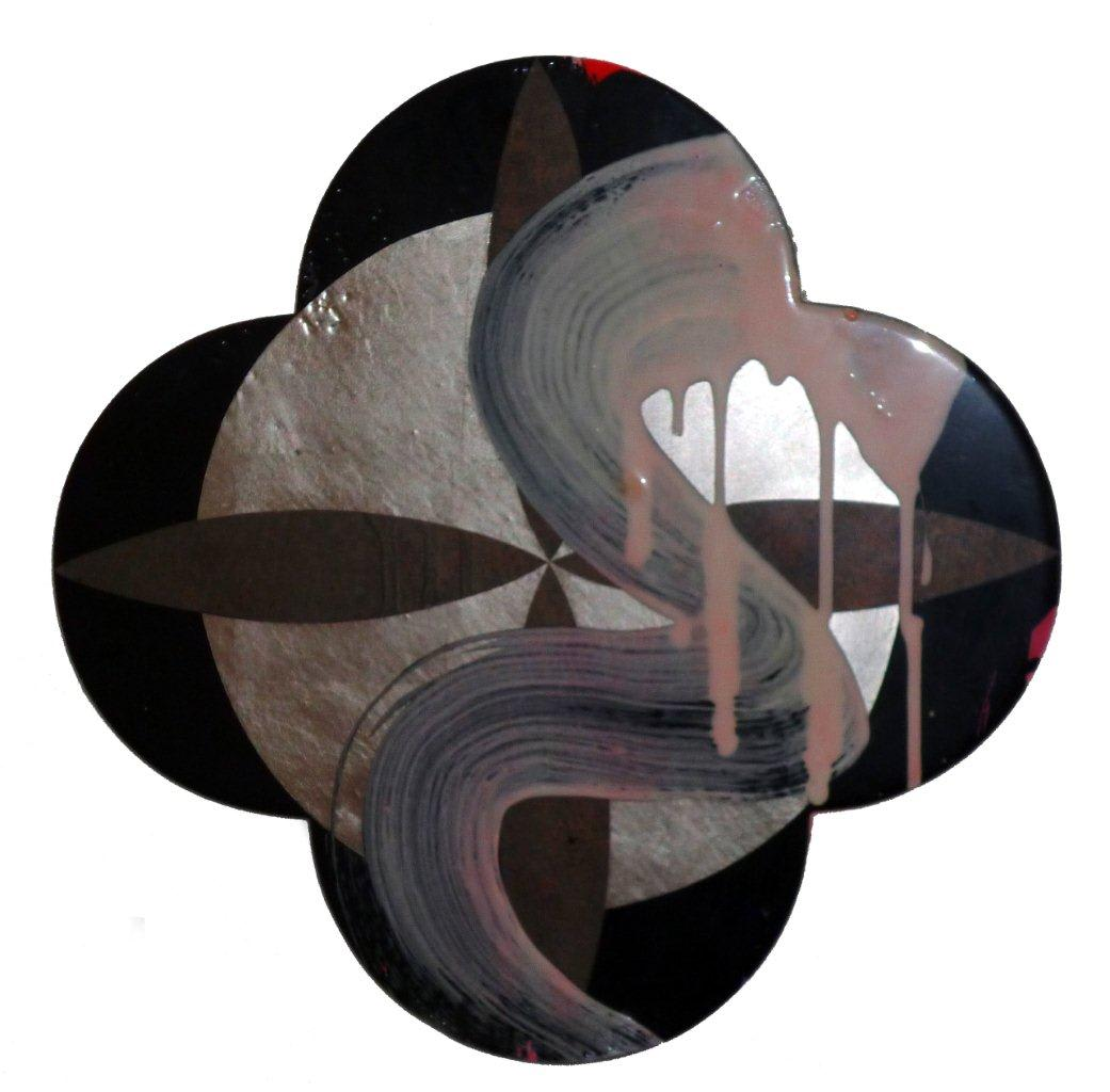 Max GIMBLETT Ascension - After Fra Angelico, 2011 Mixed media 15 x 15 in 38.1 x 38.1 cm