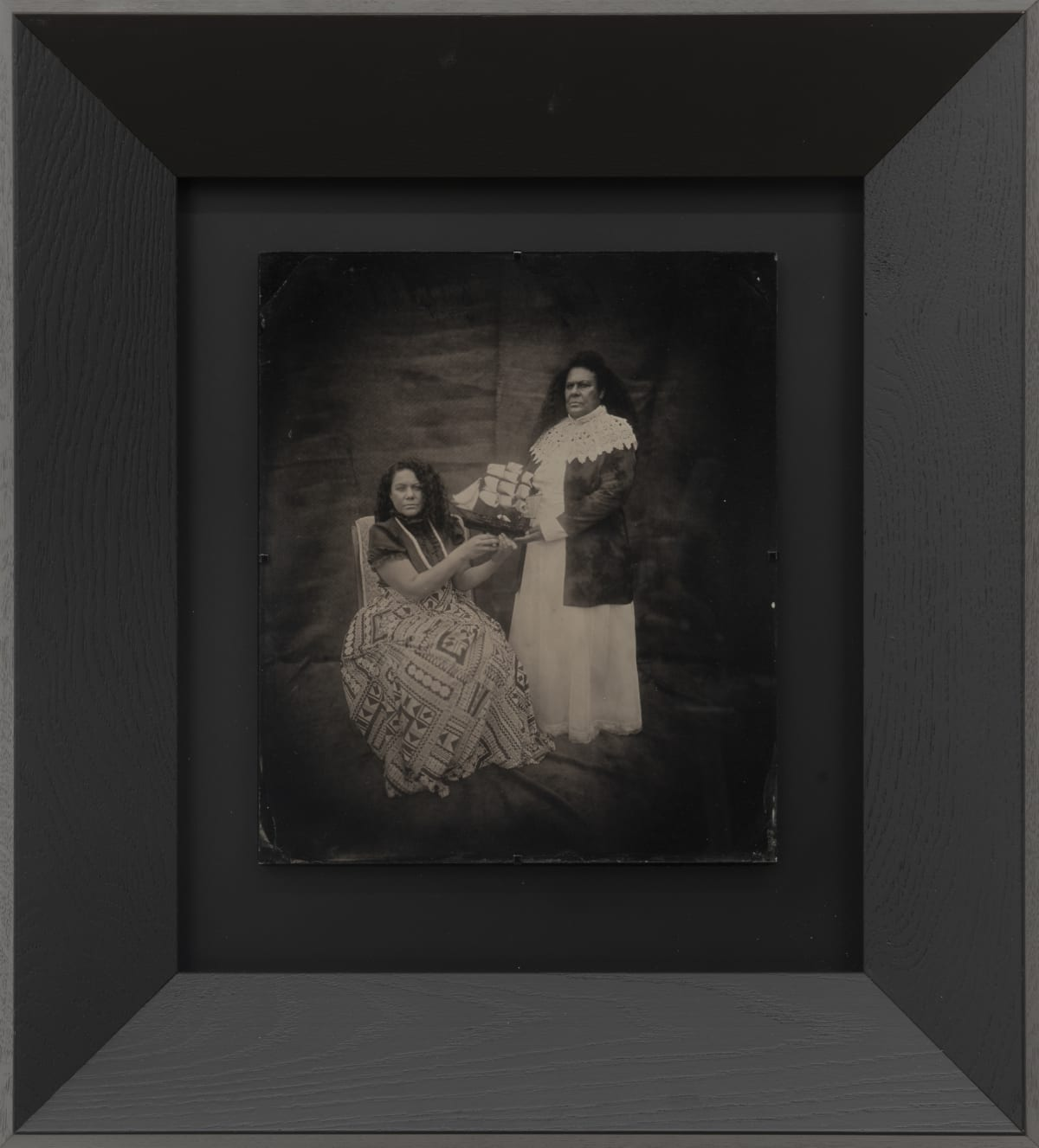 Jasmine Togo-Brisby South Sea Heiress, 2019 Collodion on glass 258 x 305mm