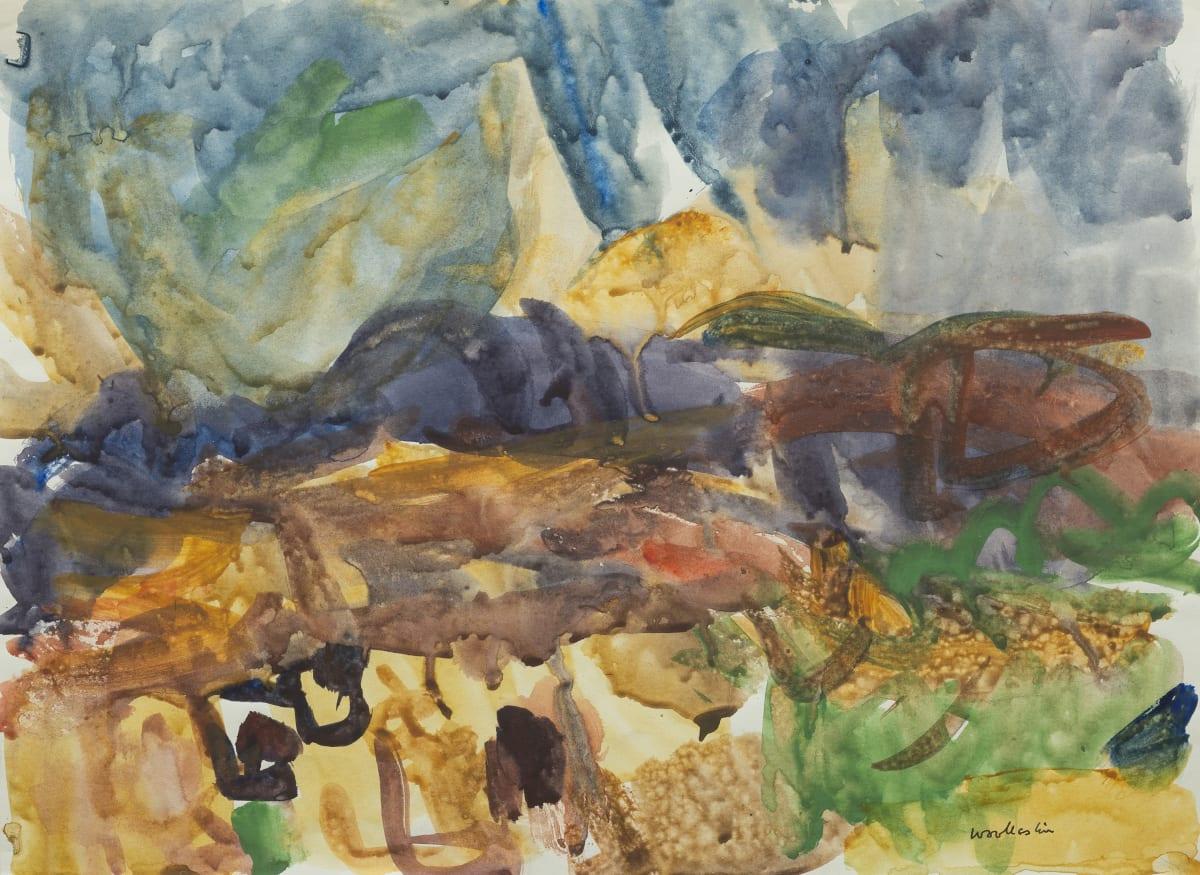 Mountford Tosswill Woollaston Blackball, 1962 watercolour on paper 274mm x 378mm