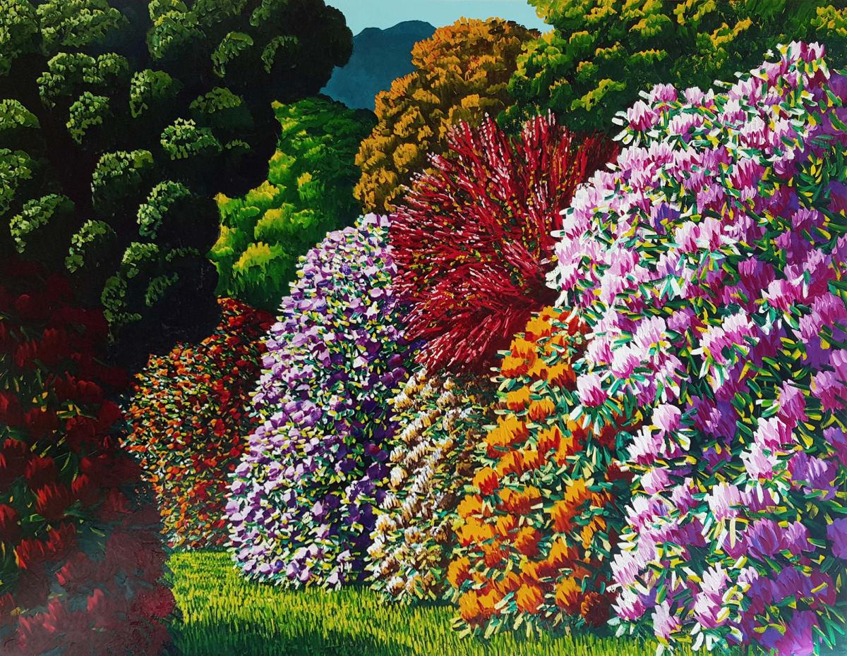 Karl Maughan  Atawhai, 2016  Oil on canvas  54.1 x 72 in 137.5 x 183 cm