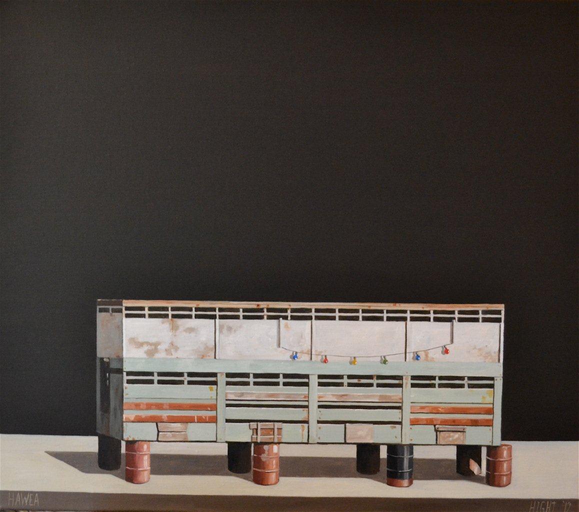 Michael Hight  Hawea, 2012  Oil on linen  14 x 16.1 in 35.5 x 41 cm