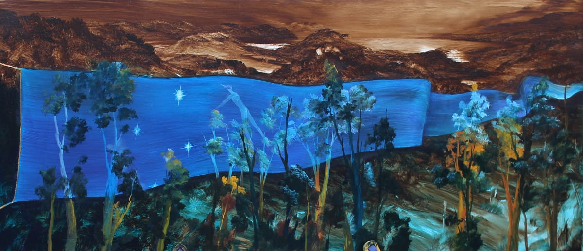 John WALSH Catching the Southern Cross, 2016 Oil on canvas 17.9 x 48.2 in 45.5 x 122.5 cm