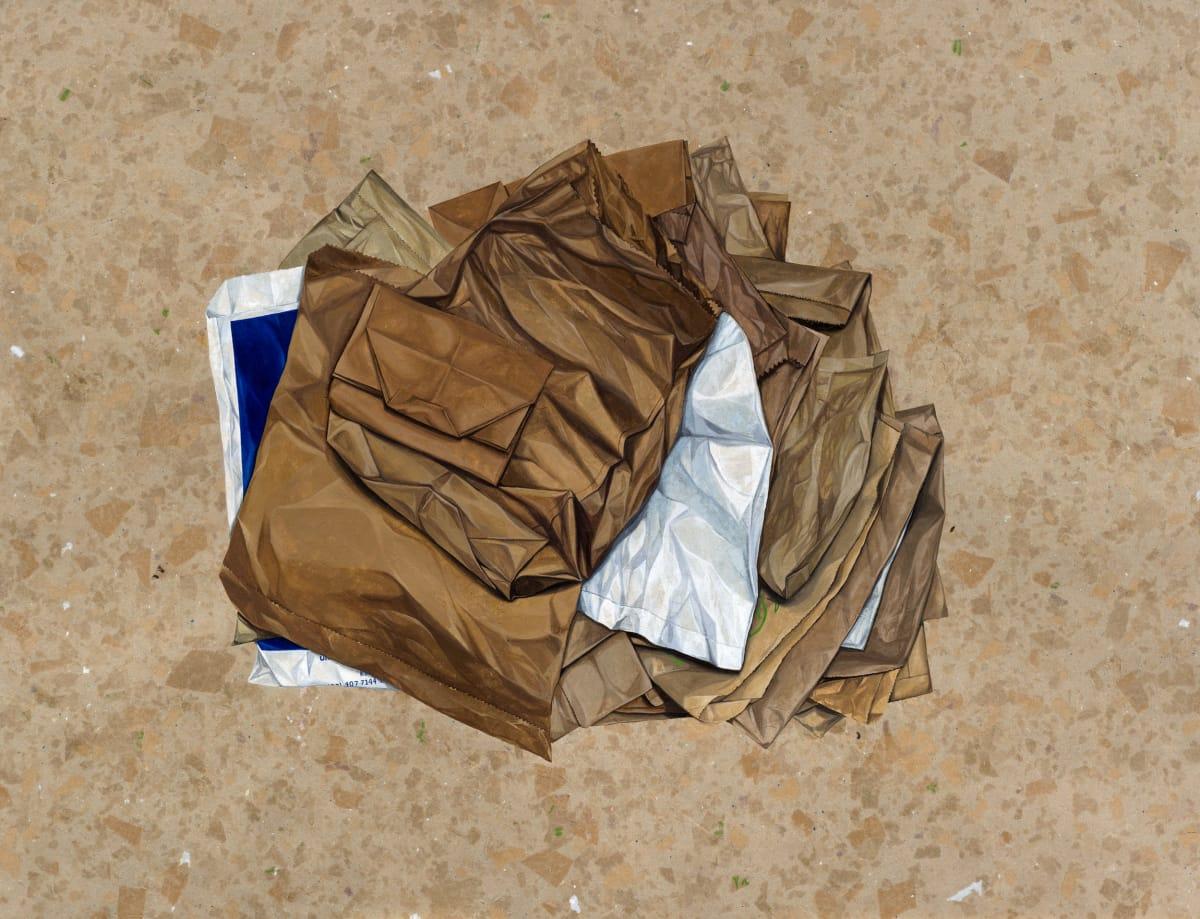 Marita Hewitt Of Itself (Paper Bags), 2016 Watercolour on paper 24.8 x 32.5 in 63 x 82.5 cm