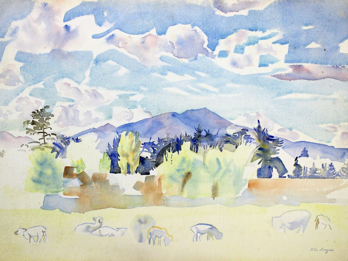 Rita Angus Farm, Waikanae, c. 1955 Watercolour on paper 15.4 x 20.4 in 39 x 51.8 cm