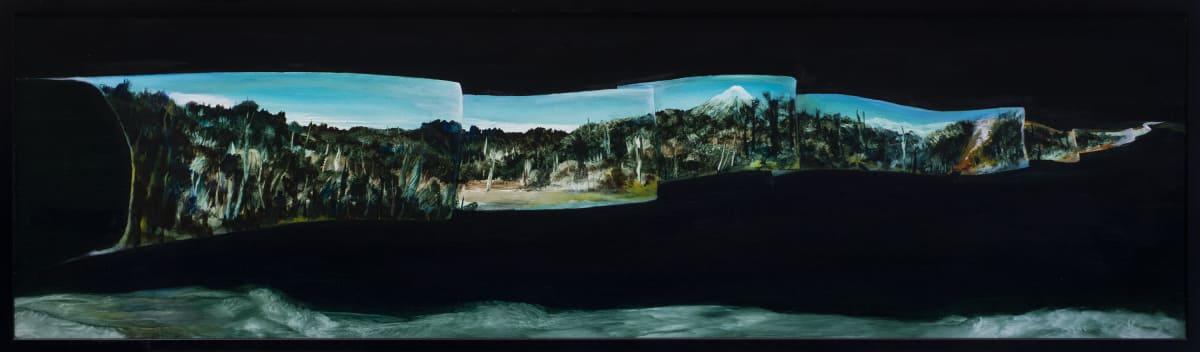 John WALSH Te Wepu Tanga, 2018 Oil on board 47 x 165 cm 18 1/2 x 65 in