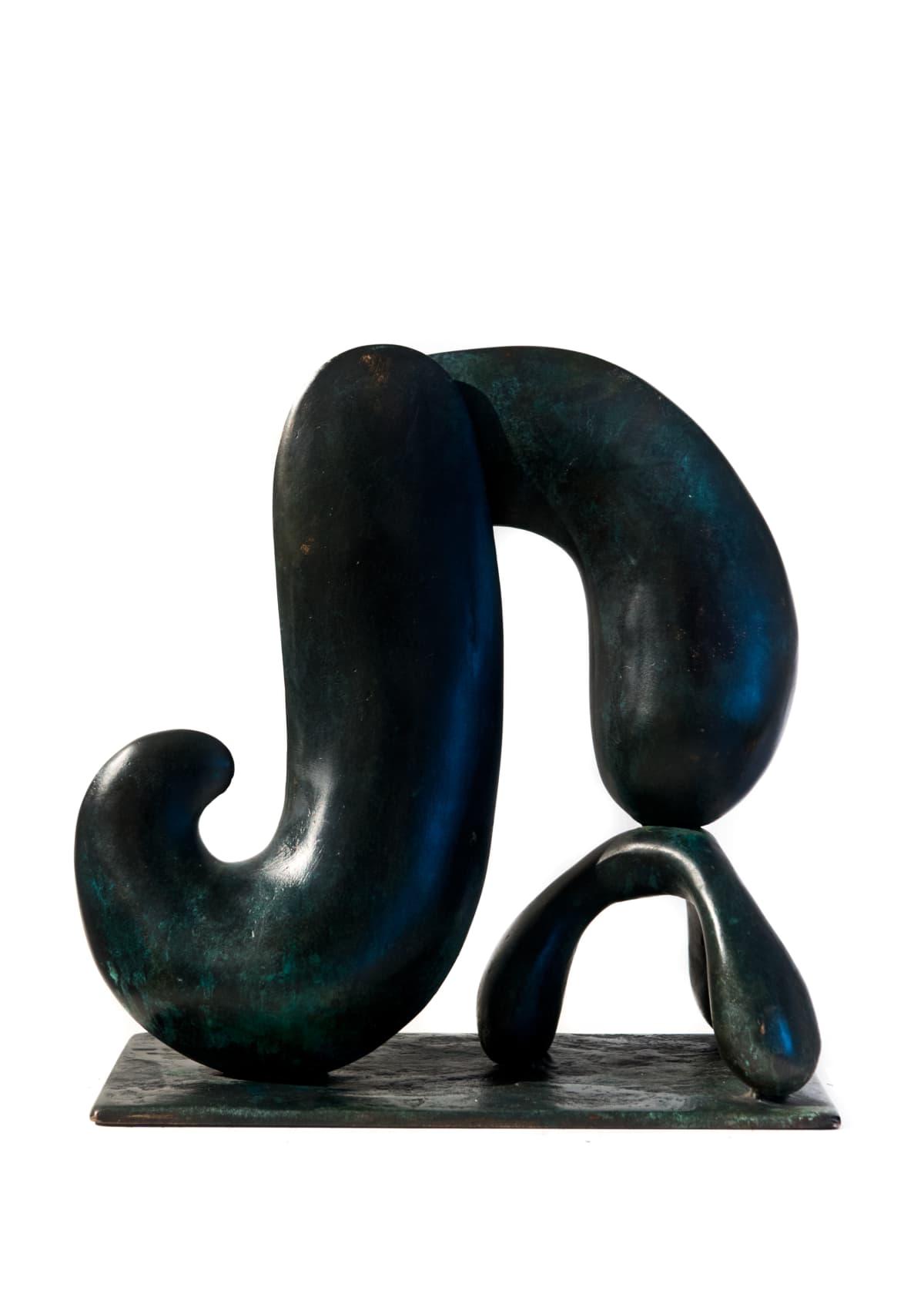 Paul DIBBLE Bathers Study 1, 2013 Cast Patinated Bronze 14.6 x 13.4 x 6.3 in 37 x 34 x 16 cm #1/2