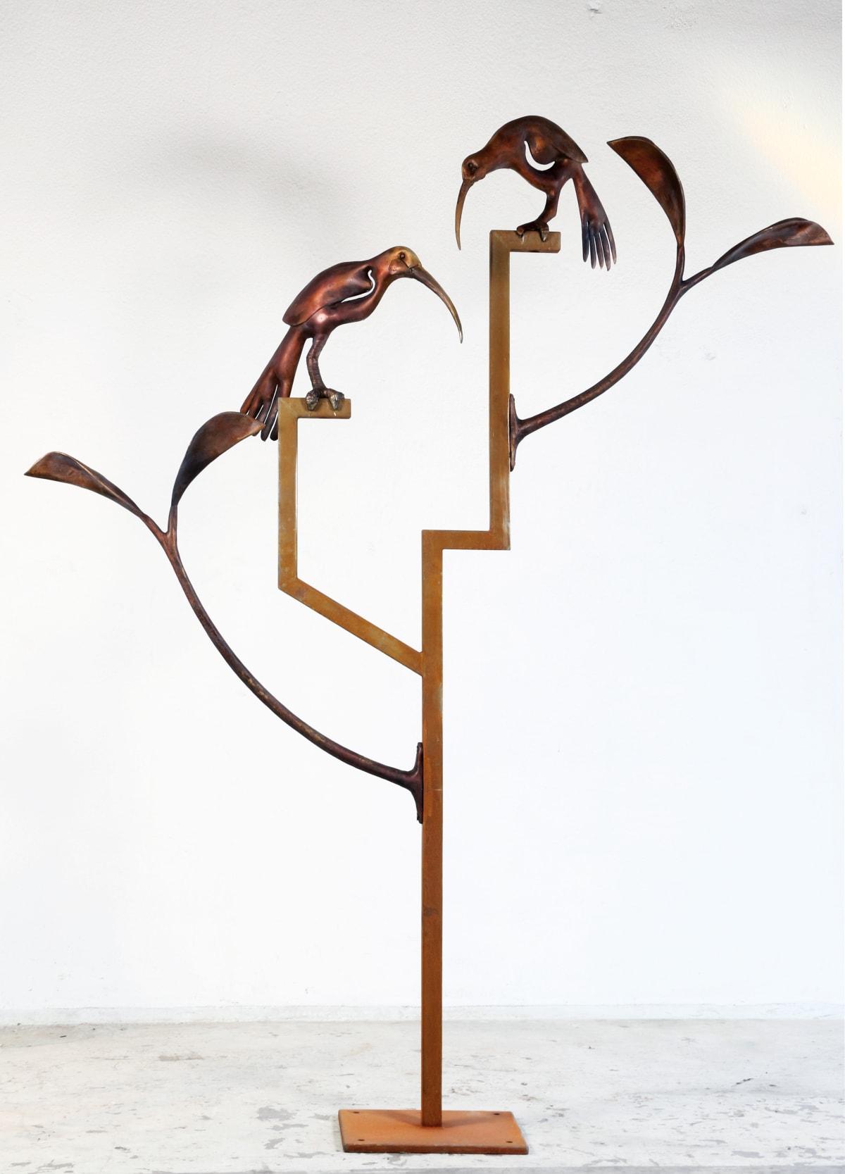 Paul DIBBLE Huia Construction, 2015 Cast bronze and Corten steel 112.2 x 86.6 x 18.1 in 285 x 220 x 46 cm #2/2