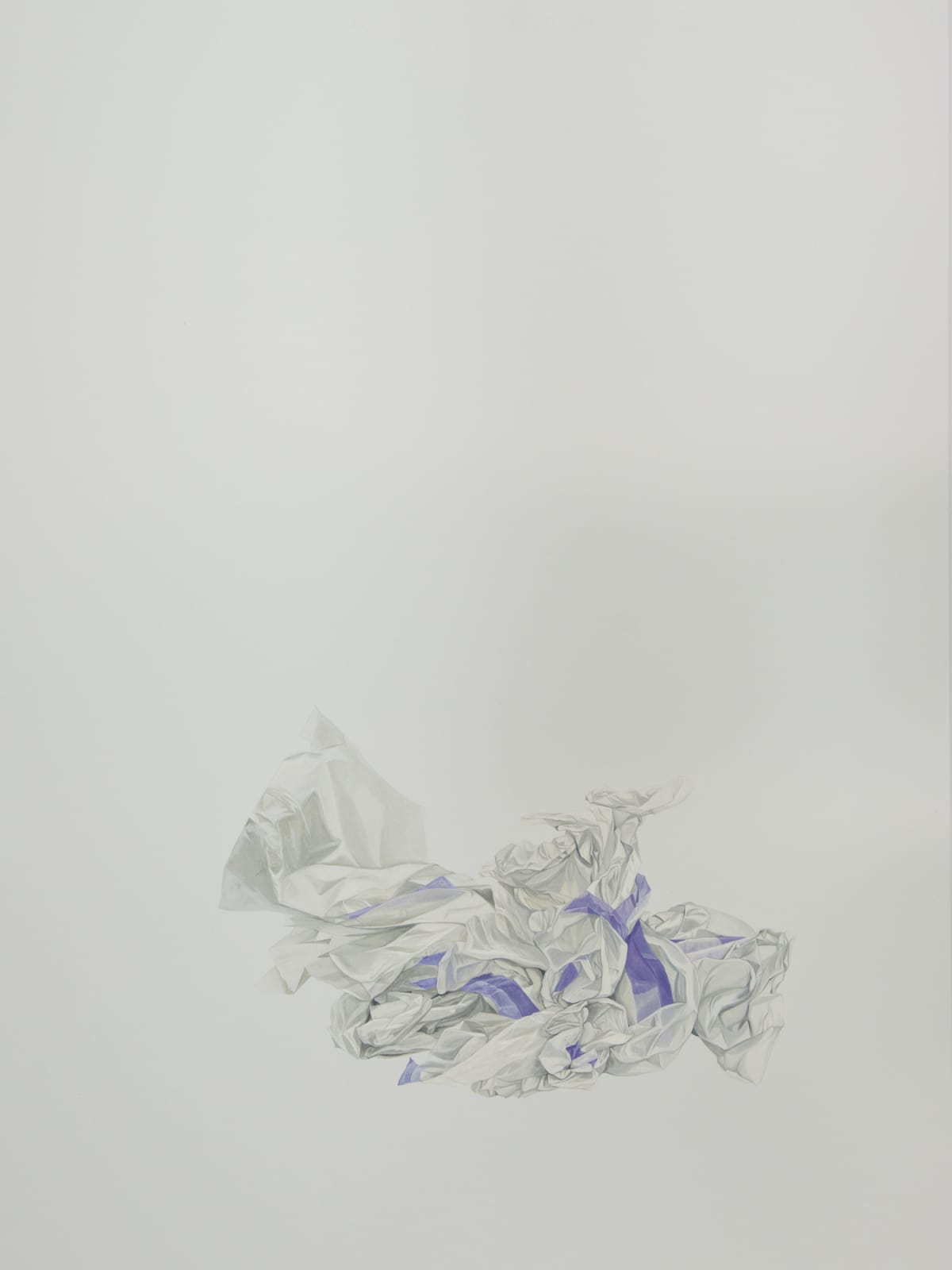 Marita Hewitt Waste Paper Series; Used Tissue and Tape (Incidental), 2015 Watercolour on paper 34.3 x 26 in 87 x 66 cm