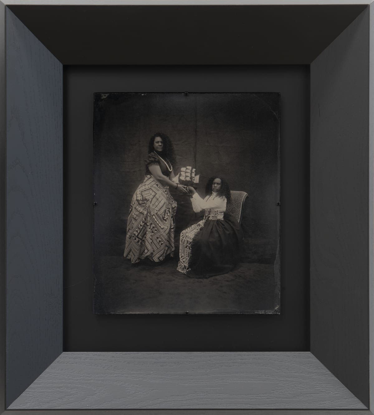 Jasmine Togo-Brisby South Sea Heiress I, 2019 Collodion on glass 258 x 305mm