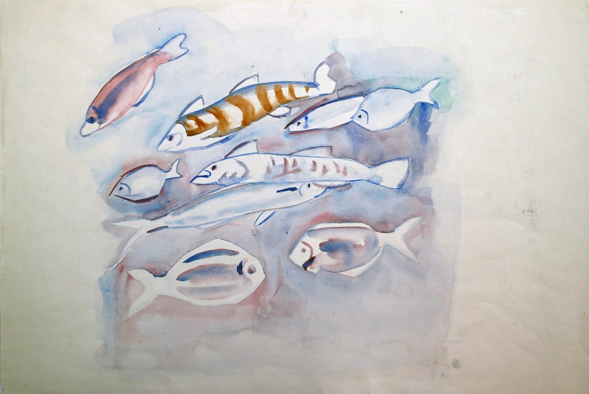 Rita Angus Tropical Fish, 1960s Watercolour on paper 11.5 x 18 in 29.2 x 45.8 cm