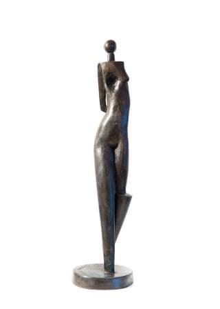 Paul DIBBLE A Quiet Time, 1/2, 2013 Cast Patinated Bronze 21.3 x 5.5 x 5.5 in 54 x 14 x 14 cm
