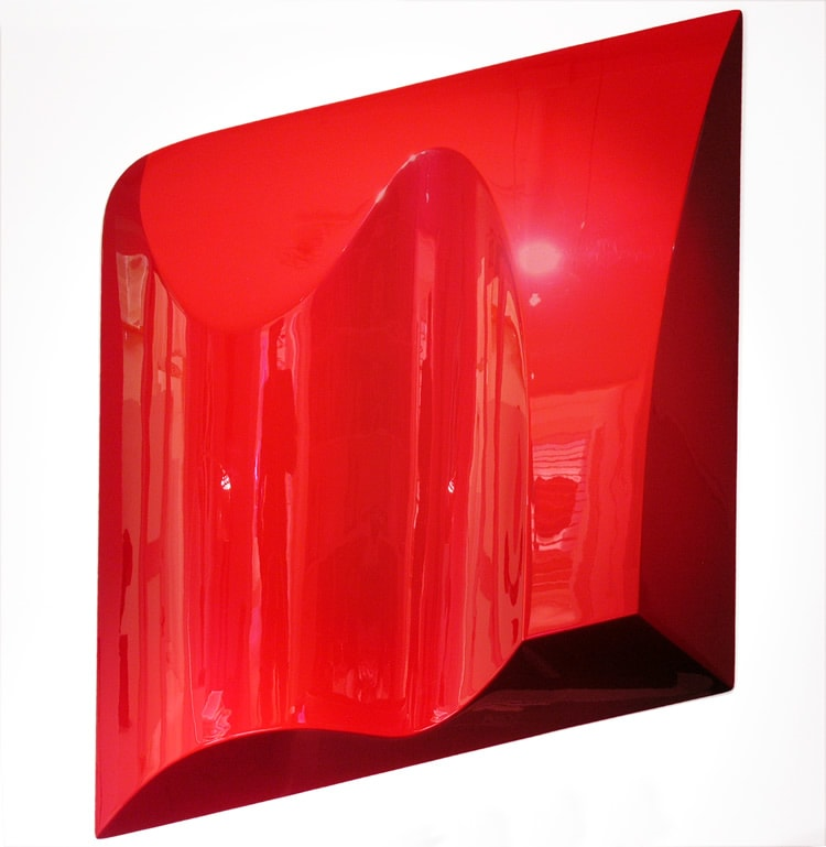 Sarah Munro Blood Red Object, 2008 Automotive paint on fibreglass support 40.9 x 40.2 x 35.4 in 104 x 102 x 90 cm