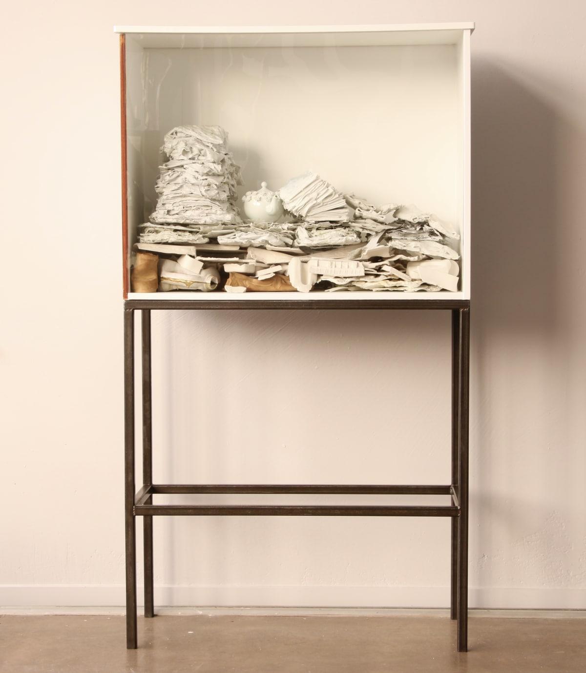 Marita Hewitt Untitled (A Strata of Trying) Mixed media 62.6 x 35 x 15.4 in 159 x 89 x 39 cm
